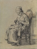 Woman Sewing Also known as '...