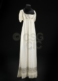 Woman's dress in white muslin...
