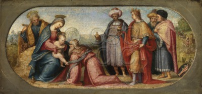 Adoration of the Kings Virgin and...