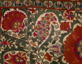 Suzani embroidery Detail of...
