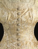 Detail of woman's dress,...